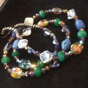 Gorgeous Artistic Gemstone &  Crystal Necklace